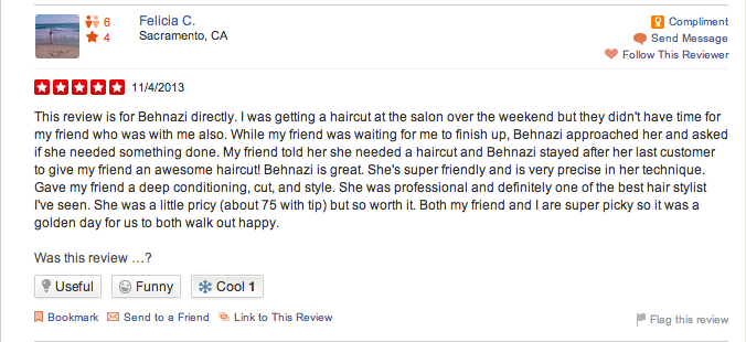 amazing haircut behnazi yelp