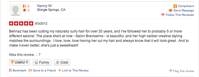 beautiful naturally curly hair behnaz yelp
