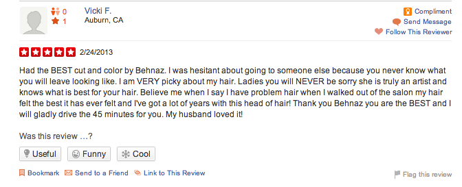 best cut and color problem hair behnaz yelp