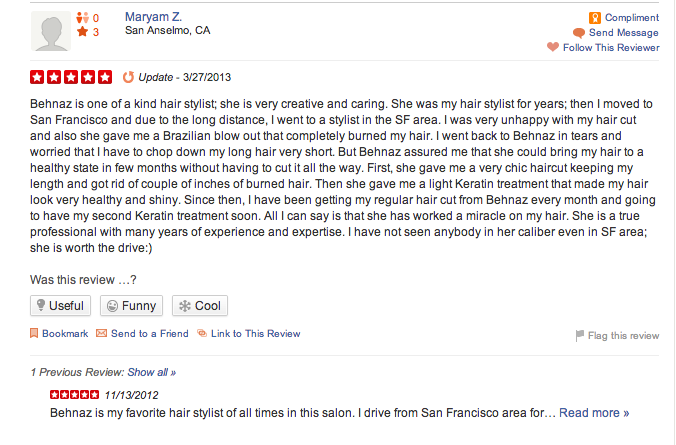 brazilian blow out favorite creative behnaz yelp