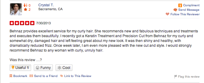 excellent curly unruly hair behnaz yelp