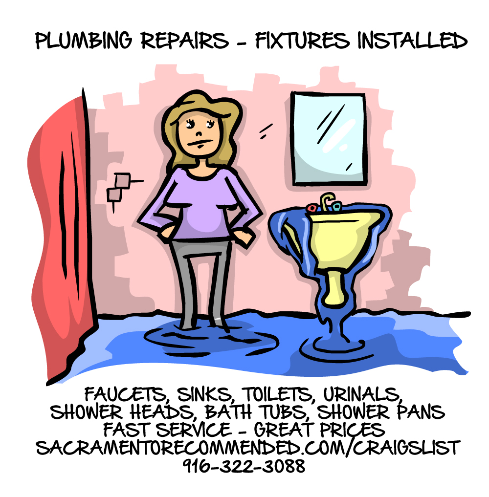 plumbing repairs fixtures installed sacramento