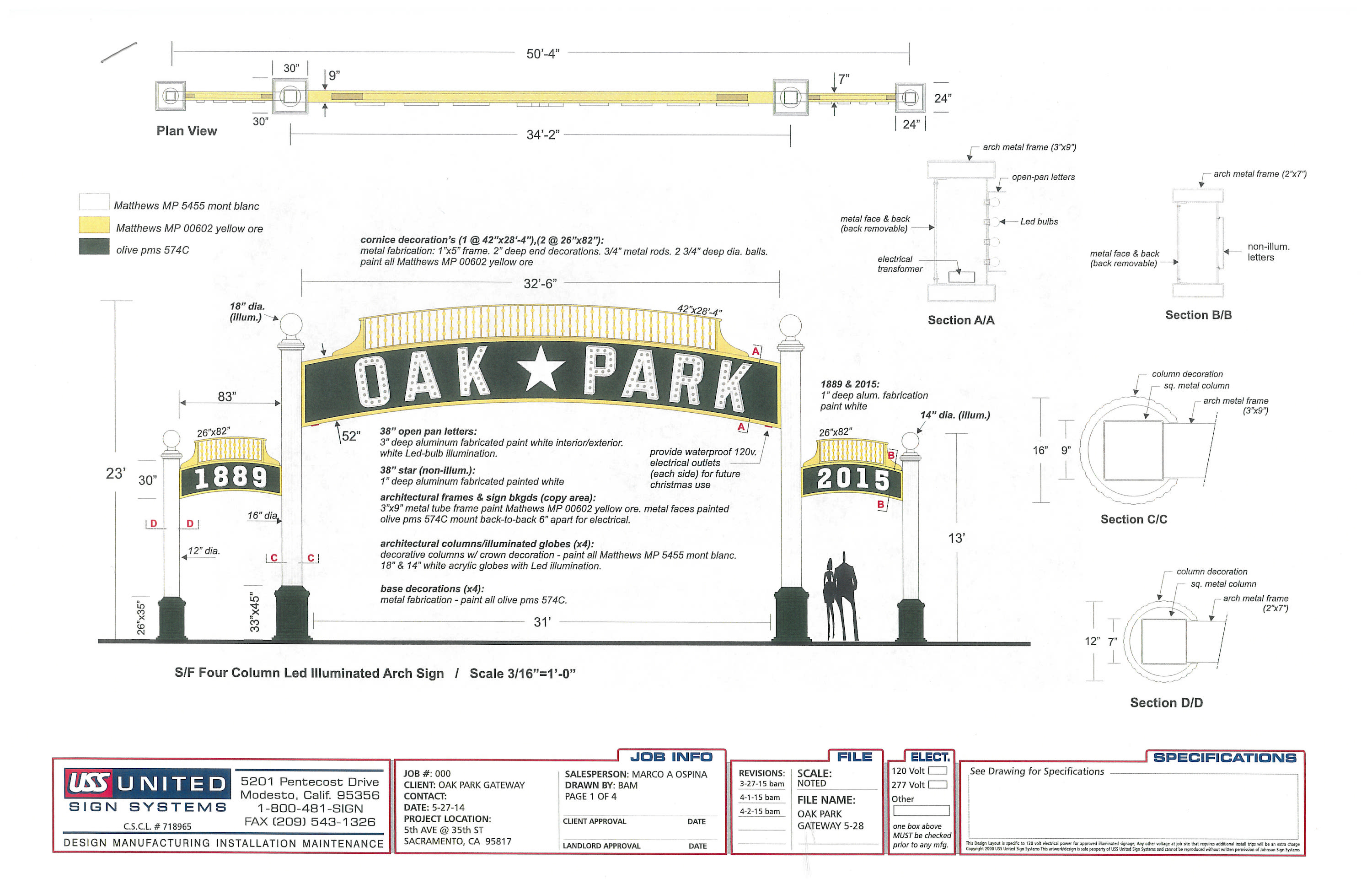 Oak Park Arch - Architectural Drawings