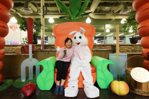 Easter bunny visits Rancho Cordova KP International Market